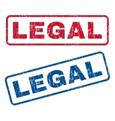 Legal Rubber Stamps vector