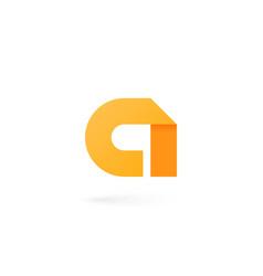 letter a logo on white alphabet background vector image