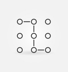 Machine learning or neural network icon vector