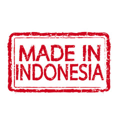 made in indonesia stamp text vector image