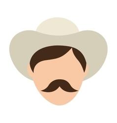 Man farmer colombian coffee icon vector