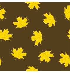 Maple Leaves Semless Pattern vector image