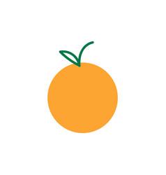 orange icon design template isolated vector image