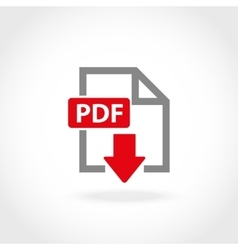 PDF icon set vector