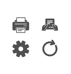 Printer service and receive file icons vector