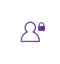 purple linear outline person icon user icon vector image