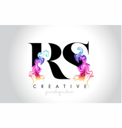 Rs vibrant creative leter logo design with vector