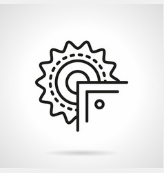 Saw for metal simple line icon vector
