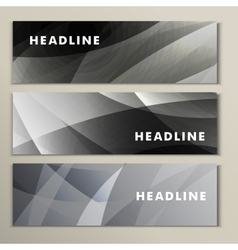 Set gray and white abstract bright pictures vector image