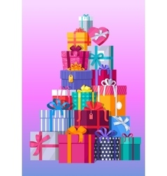 Set of colorful gift boxes vector
