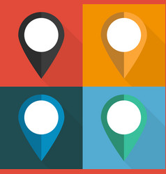set of pointers to the map on different vector image