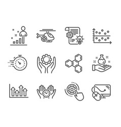 Set science icons such as timer medical vector