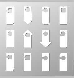 sign hanger of various shapes on a light vector image