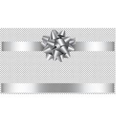 silver bow and ribbon vector image