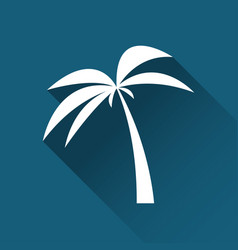 Simple palm tree icon travel and holiday symbol vector
