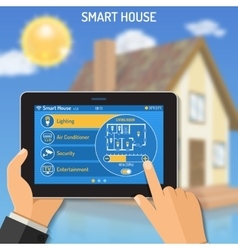 Smart house and internet things vector