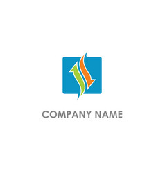 square arrow consulting logo vector image