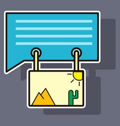 Sticker email attachment icon paper document clip vector