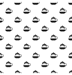 Sugar bowl pattern simple style vector image