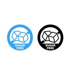 Sugar free label cubes vector