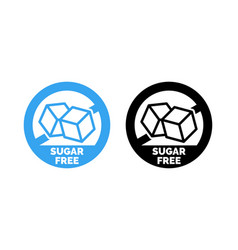 Sugar free label sugar cubes vector
