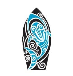 Surf board vector image