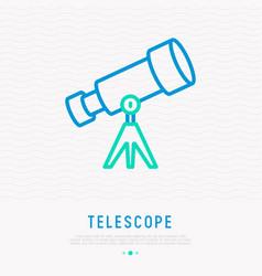 Telescope thin line icon vector