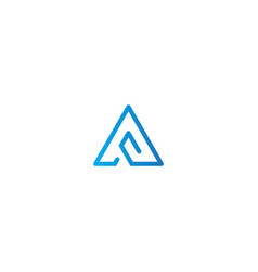 triangle line technology business logo vector image
