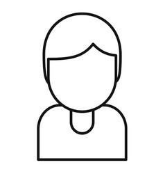 Tutor avatar icon outline style vector