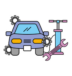 vehicle wrench pump air wheel automotive service vector image