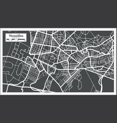 versailles france city map in retro style outline vector image