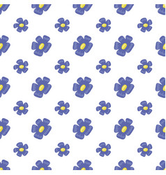 Vintage seamless floral pattern cute simple style vector
