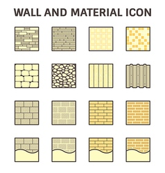 Wall and material icon vector
