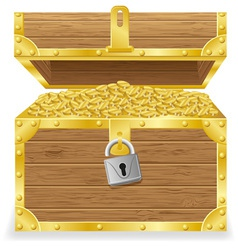 antique treasure chest vector image vector image