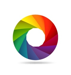 Colorful shutter aperture vector