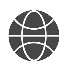 globe flat icon vector image