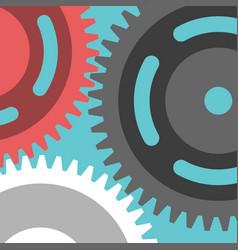 multicolor cog wheels closeup vector image