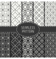 Set of geometric abstract seamless cube pattern vector image