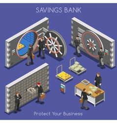 Bank Office 01 People Isometric vector image