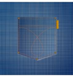 jeans pocket vector image