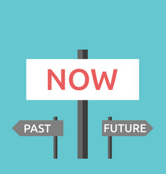 now past future signs vector image