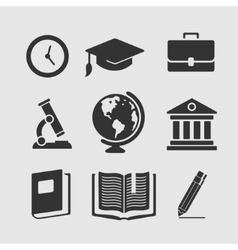 Set of symbols education vector image vector image
