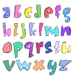 sketchy small letters vector image vector image