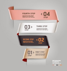 Abstract ribbon style infographics template vector image vector image