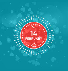 Decorative circle flat line happy valentines day vector