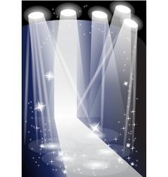 illuminated catwalk vector image vector image