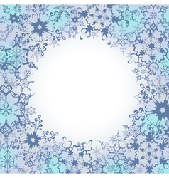 Ornamental winter frame with ornate snowflakes vector image vector image