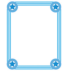 frame in light blue tones vector image vector image