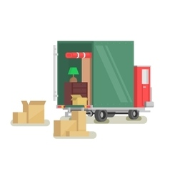 Moving furniture loading vector image vector image