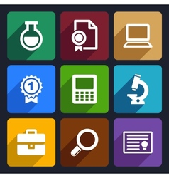 School and education flat icons set 26 vector image vector image